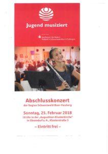 Abschlußkonzert Jugend musiziert @ Augustiner-Klosterkirche