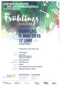 Frühlingskonzert des Sinfonieorchester der Jugendmusikschule St.Georgen-Furtwangen @ Kurhaus Triberg